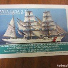 Coleccionismo Calendarios: CALENDARIO NO FOURNIER-SANTA LUCIA SEGUROS-DEL 1985 VER FOTOS. Lote 204116270