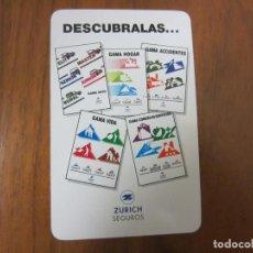 Coleccionismo Calendarios: CALENDARIO NO FOURNIER-ZURICH SEGUROS-DEL 1995 VER FOTOS. Lote 204116437