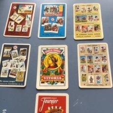 Coleccionismo Calendarios: LOTE 7 CALENDARIOS DE BOLSILLO JUEGOS HERACLIO FOURNIER. Lote 204150265