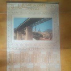 Coleccionismo Calendarios: PRECIOSO CALENDARIO AÑO 1998 SOBRE TELA CALADA VISTAS PUENTE ALCOY 45*78 CM. Lote 204335040