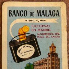 Coleccionismo Calendarios: BANCO DE MÁLAGA. CALENDARIO HERACLIO FOURNIER DE 1966.. Lote 204460533
