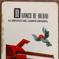 Coleccionismo Calendarios: BANCO DE BILBAO. CALENDARIO HERACLIO FOURNIER DE 1966.. Lote 204482261