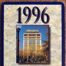 Coleccionismo Calendarios: SEGUROS SANTA LUCÍA. CALENDARIO HERACLIO FOURNIER DE 1996.. Lote 204486526