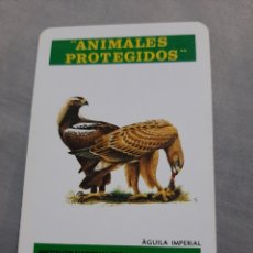 Colecionismo Calendários: CALENDARIO DE BOLSILLO H FOURNIER ICONA 1974 ANIMALES PROTEGIDOS AGUILA IMPERIAL VERSIÓN 2. Lote 204642923