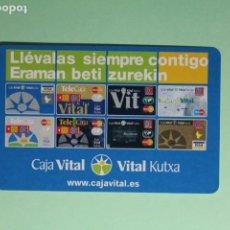 Coleccionismo Calendarios: CALENDARIO FOURNIER. CAJA VITAL. VITAL KUTXA. TARJETAS BANCARIAS. AÑO 2005.. Lote 205055572