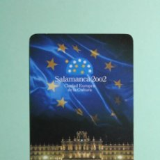 Coleccionismo Calendarios: CALENDARIO FOURNIER. CAJA DUERO. SALAMANCA-2002. CALENDARIO DEL AÑO 2000.. Lote 205056310
