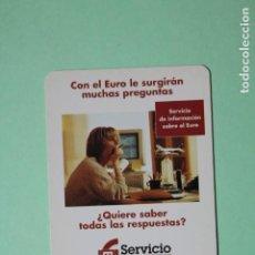 Coleccionismo Calendarios: CALENDARIO FOURNIER. BANCO PASTOR. SERVICIO EURO. AÑO 1999.. Lote 205056408