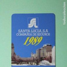 Coleccionismo Calendarios: CALENDARIO FOURNIER. SANTA LUCIA, S.A. COMPAÑIA DE SEGUROS. AÑO 1989.. Lote 205057250