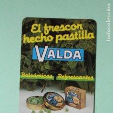Coleccionismo Calendarios: CALENDARIO FOURNIER. PASTILLAS VALDA CONTRA LA TOS. BALSAMICAS. AÑO 1990.. Lote 205057672