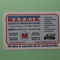 Coleccionismo Calendarios: CALENDARIO FOURNIER. MACOIN, S.A., MAQUINARIA DE CONSTRUCCION E INDUSTRIA. AÑO 2007.. Lote 205058541