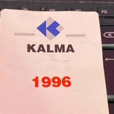 Coleccionismo Calendarios: CALENDARIO 1996 KALMA DIPTICO. Lote 205144052