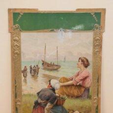Coleccionismo Calendarios: CALENDARIO MODERNISTA, SOLO TAPA , C.1900. Lote 205186923