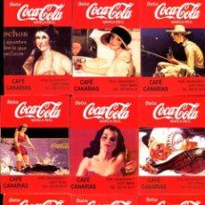 Coleccionismo Calendarios: 9 CALENDARIOS DE BOLSILLO AÑO 1999 COCA COLA - CAFÉS CANARIAS MELILLA - SERIE COMPLETA DIFÍCIL Y RAR. Lote 244900975