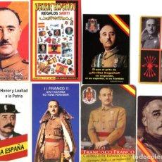 Coleccionismo Calendarios: 8 CALENDARIOS POLITICO - MILITAR, FRANCISCO FRANCO- TEJERO. Lote 205858386