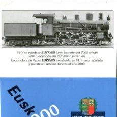 Coleccionismo Calendarios: CALENDARIO DE TREN FERROCARRIL - EUSKOTREN EUSKO TREN - AÑO 2000. Lote 205858716