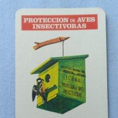 Coleccionismo Calendarios: CALENDARIO PROTECCION AVES INSECTIVORAS 1976. Lote 205861386