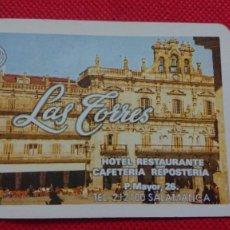 Coleccionismo Calendarios: CALENDARIO FOURNIER LAS TORRES HOTEL RESTAURANTE DE SALAMANCA AÑO 1994. Lote 205862508