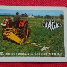Coleccionismo Calendarios: CALENDARIO FOURNIER ZAGA ZAGAVATOR VIBRADOR AÑO 1971. Lote 205863668