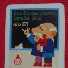 Coleccionismo Calendarios: CALENDARIO FOURNIER CAJA DE AHORROS DE SANTANDER AÑO 1971. Lote 205863863