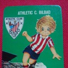 Coleccionismo Calendarios: CALENDARIO DE SERIE FÚTBOL EQUIPO ATHLETIC C. BILBAO AÑO 1976. Lote 205864668