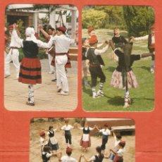 Coleccionismo Calendarios: 3 CALENDARIOS DE BOLSILLO AÑOS 1975 - 1978 ESPAÑA TÍPICA - FOLKLORE VASCO - VER FOTO REVERSO. Lote 206277486
