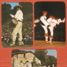 Coleccionismo Calendarios: 3 CALENDARIOS DE BOLSILLO AÑOS 1990 - 1993 ESPAÑA TÍPICA - PAÍS VASCO - VER FOTO REVERSO. Lote 206277798