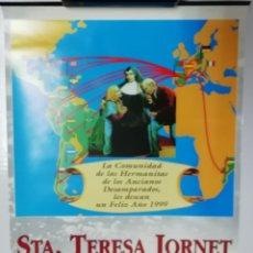 Coleccionismo Calendarios: CALENDARIO RELIGIOSO PARED 1999 SANTA TERESA JORNET PATRONA DE LA ANCIANIDAD LLEIDA. Lote 206278108