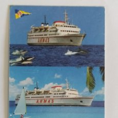 Coleccionismo Calendarios: CALENDARIO DE BOLSILLO NAVIERA ARMAS AÑO 2000 TEMÁTICA BARCOS TRANSPORTE MARÍTIMO. Lote 206289408