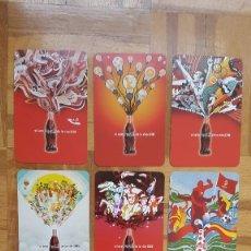 Collezionismo Calendari: 9 CALENDARIOS DE BOLSILLO COCA COLA - SERIE COMPLETA - AÑO 2008 VER FOTOS ADICIONALES. Lote 206321557