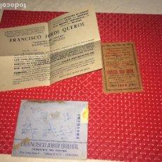 Coleccionismo Calendarios: FRANCISCO JORDI QUEROL - INDUSTRIA DEL CORCHO - BARCELONA - CALENDARIO DE CORCHO 1956. Lote 206405206