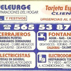 Coleccionismo Calendarios: CALENDARIO PUBLICIDAD - 1997 - TELEURGE. Lote 206828931