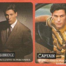 Coleccionismo Calendarios: 2 CALENDARIOS DE BOLSILLO PORTUGAL AÑO 1991 CHICOS - MODA DE CABALLERO - VER FOTO REVERSOS. Lote 207133183