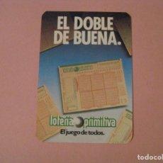 Coleccionismo Calendarios: CALENDARIO EL DOBLE DE BUENA. LOTERÍA PRIMITIVA. 1988.. Lote 207134650