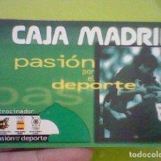 Coleccionismo Calendarios: FOURNIER CALENDARIO PUBLICIDAD CAJA MADRID PASION DEPORTE 1998. Lote 207231355
