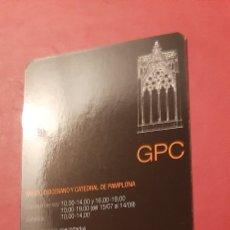 Coleccionismo Calendarios: GPC GUÍA DE PATRIMONIO CULTURAL. MUSEO DIOCESANO CATEDRAL DE PAMPLONA 2008. Lote 207338476