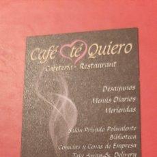 Coleccionismo Calendarios: CAFÉ TÉ QUIERO 2011 BARCELONA. Lote 207338667