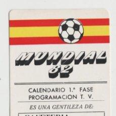 Coleccionismo Calendarios: LOTE B- CALENDARIO MUNDIAL FUTBOL FASE DE GRUPOS CAFETERIA LIRA OVIEDO ASTURIAS. Lote 218761593