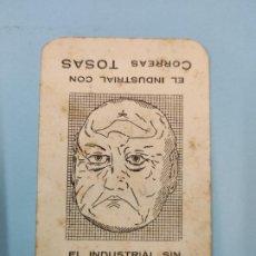 Coleccionismo Calendarios: CALENDARIO 1929 - EL INDUSTRIAL CON Y SIN CORREAS TOSAS - DOS CARAS EN UNA. Lote 208449891