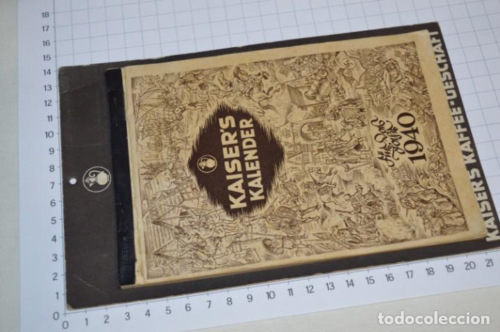 VINTAGE - ALMANAQUE / CALENDARIO AÑO 1940 - CAFÉ/BAR EMPERADOR - KAISER´S KALENDER 1940 ¡MIRA! (Coleccionismo - Calendarios)