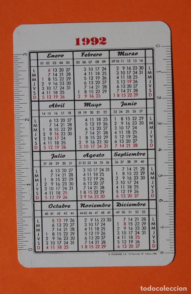Coleccionismo Calendarios: CALENDARIO DE BOLSILLO. fournier. CLINICA DE ASISA. NUEVA CLINICA EN MADRID. AÑO 1992. - Foto 2 - 210061440