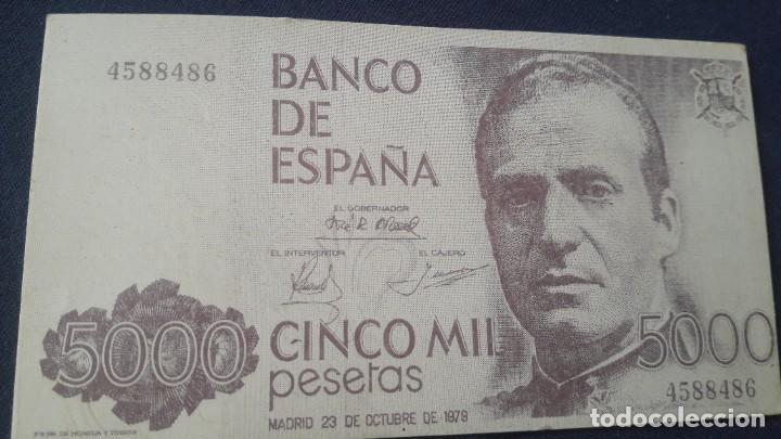 CALENDARIO CONMEMORATIVO BILLETE 5000 PTAS (Coleccionismo - Calendarios)