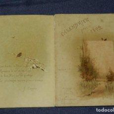 Coleccionismo Calendarios: (MF) CALENDARIO 1892 - CALENDRIER POUR 1892 F COPPÉE, 24 PAG, 14X20CM, SEÑALES DE USO. Lote 210943014