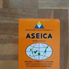 Coleccionismo Calendarios: CALENDARIO DE SEGUROS. ASEICA. ASEGURADORA ISLAS CANARIAS. SEGUROS DE SALUD AÑO 2001. VER FOTO A. Lote 211730313