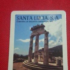 Coleccionismo Calendarios: CALENDARIO SEGUROS SANTA LUCÍA AÑO 1984. Lote 211731043