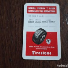 Coleccionismo Calendarios: CALENDARIO FOURNIER, FIRESTONE AÑO 1963. Lote 212046351