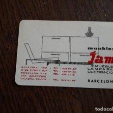 Coleccionismo Calendarios: CALENDARIO FOURNIER, MUEBLES JAM, BARCELONA AÑO 1966. Lote 212194362