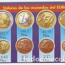 Collectionnisme Calendriers: CALENDARIO AÑO 2001. VALORES DE LAS MONEDAS DEL EURO. REF. 11-01WCB160. Lote 212617147