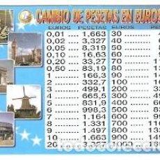 Collectionnisme Calendriers: CALENDARIO AÑO 2001. CAMBIO DE PESETAS EN EUROS. REF. 11-01WCB163. Lote 212617488