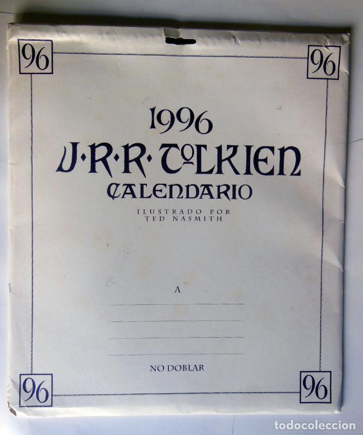 Coleccionismo Calendarios: CALENCARIO J.R.R. TOLKIEN 1996. NASMITH Ted (ilustrador) - Foto 2 - 213262005