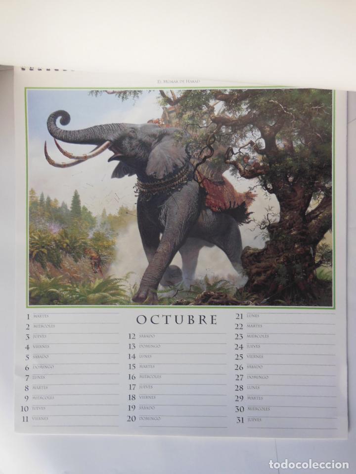 Coleccionismo Calendarios: CALENCARIO J.R.R. TOLKIEN 1996. NASMITH Ted (ilustrador) - Foto 3 - 213262005